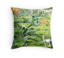 Beautiful Delicate Flowers of Canton Throw Pillow