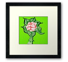 Scribblertoo Rose Framed Print