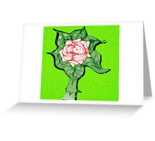 Scribblertoo Rose Greeting Card