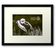 """Owlman Hunting"" Framed Print"
