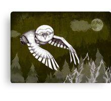 """Owlman Hunting"" Canvas Print"