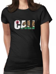 Cool Cali California Flag Womens Fitted T-Shirt