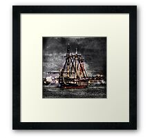 World's oldest commissioned warship afloat - USS CONSTITUTION Framed Print