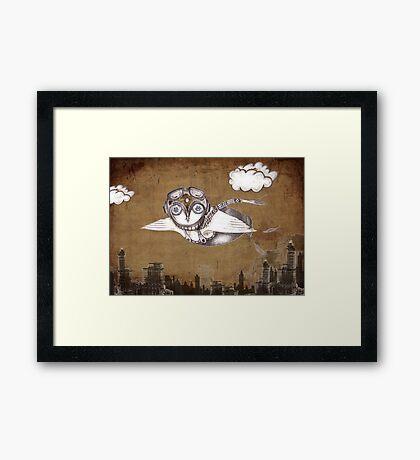 """Birdman in the City"" Framed Print"