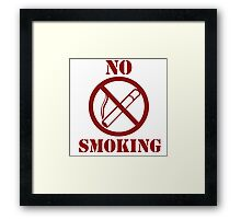 No smoking anti-smoking Framed Print
