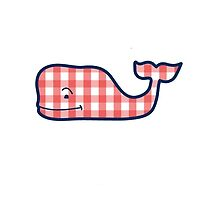 gingham whale by Emily Grimaldi