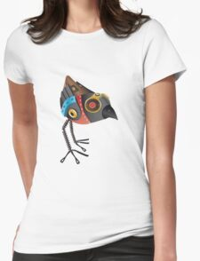 Robot Bird Womens Fitted T-Shirt