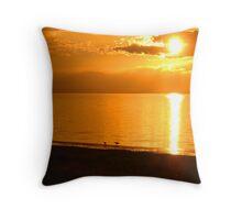 Sunset on the Great Salt Lake. Throw Pillow