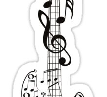 Guitar and Music Notes7 Sticker