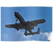 An A-10 Thunderbolt's belly Poster