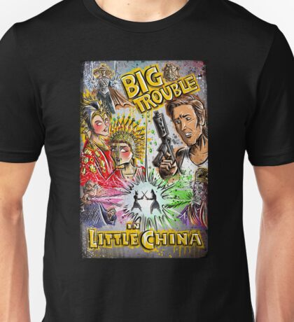 Big Trouble in Little China art jack burton john carpenter sci fi horror chinese japanese kung fu martial arts kurt russel storms girl Unisex T-Shirt