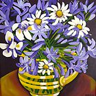 Agapanthus &amp; Daisies by marlene veronique holdsworth