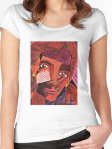 'Portrait of a Woman' Women's Fitted Scoop T-Shirt