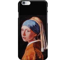 """Study of """"Girl With a Pearl Earring"""", 1665, Johannes Vermeer. iPhone Case/Skin"""