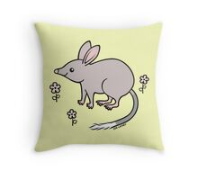 Pretty Bilby with Flowers Throw Pillow