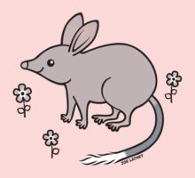 Pretty Bilby with Flowers Kids Tee