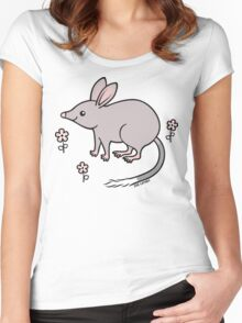 Pretty Bilby with Flowers Women's Fitted Scoop T-Shirt