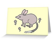 Pretty Bilby with Flowers Greeting Card