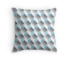 cubic pattern - geometric 3d design -seamless Throw Pillow