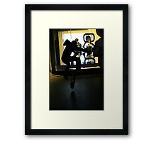 mall boarder. bourke st - melbourne cbd Framed Print