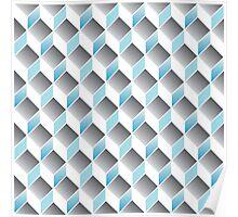 cubic pattern - geometric 3d design -seamless Poster
