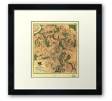 Civil War Map of the Battlefield of Antietam Sept 17 1862 Framed Print