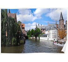 Canal in Bruges   Belgium Poster