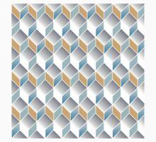 cubic pattern - geometric 3d design -seamless Kids Tee