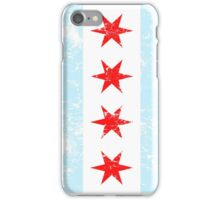 Distressed Chicago Flag iPhone Case/Skin