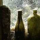 Old Green Bottles on the wall - Mitchells Gully - New Zealand by AndreaEL