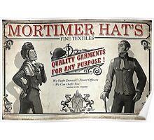 Mortimer Hat's Fine Textiles Poster Poster