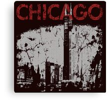 Vintage Chicago Tower Skyline Canvas Print