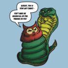 Owl Vs Snake by Michael Lee
