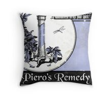 Piero's Remedy Dishonored Poster Throw Pillow
