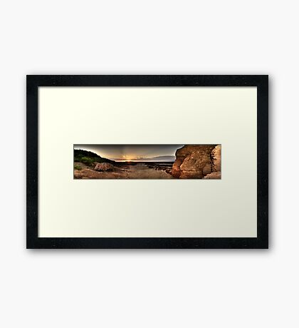 Hilbre Island Sunset Framed Print