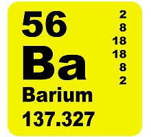 Barium Periodic Table of Elements by walterericsy