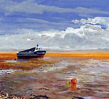 Boat at Weston-super-Mare by Antony R James