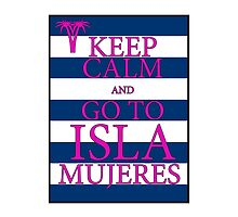 KEEP CALM AND GO TO ISLA MUJERES - PALM - Navy/Pink by IntWanderer