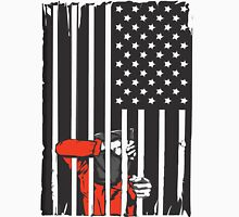 Guantanamo US Flag Political T-shirt. Prisoner behind bars. Unisex T-Shirt