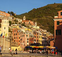 Vernazza from the sea by Allison Peters