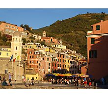 Vernazza from the sea Photographic Print