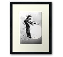 moon goddess Framed Print