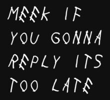 Meek If You Gonna Reply Its Too Late (W) T-Shirt