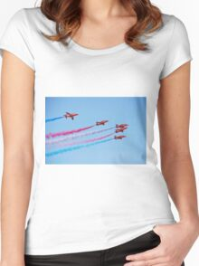 The Red Arrows, Hastings Women's Fitted Scoop T-Shirt