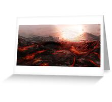 Lava Greeting Card