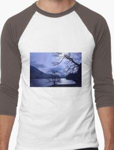 beautiful blue lake Men's Baseball ¾ T-Shirt