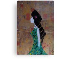 Girl In Green Dress Canvas Print