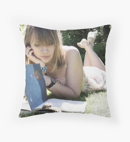 I Am a Book Throw Pillow