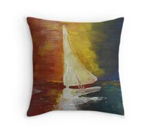 Serene Sailing Throw Pillow