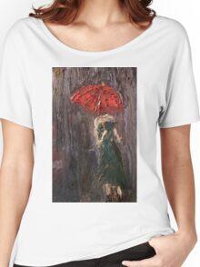 Pink Umbrella  Women's Relaxed Fit T-Shirt